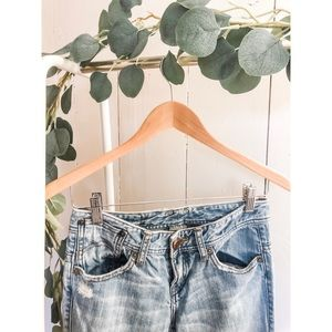 Armani Exchange Distressed Flare Jeans Sz 0 Short